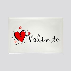 """I Love You"" [Bosnian] Rectangle Magnet"